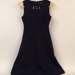 Ivanka Trump navy colored dress